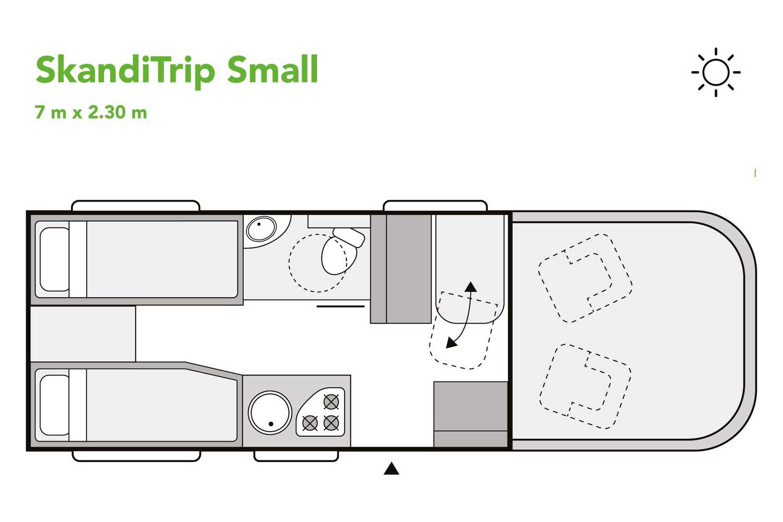 SkandiTrip petit camping car daytime blueprint