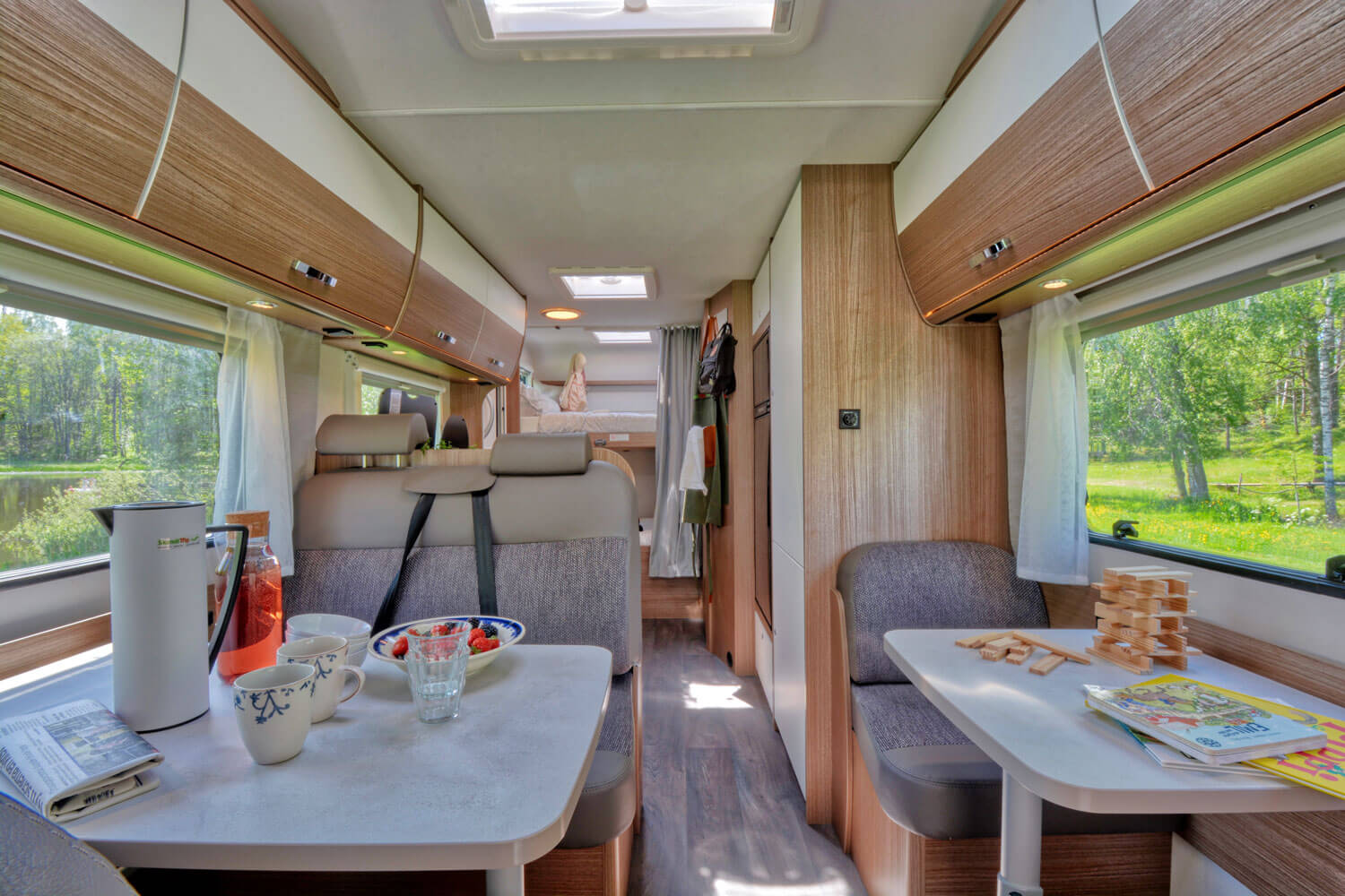 SkandiTrip family plus motorhome comfortable living room section